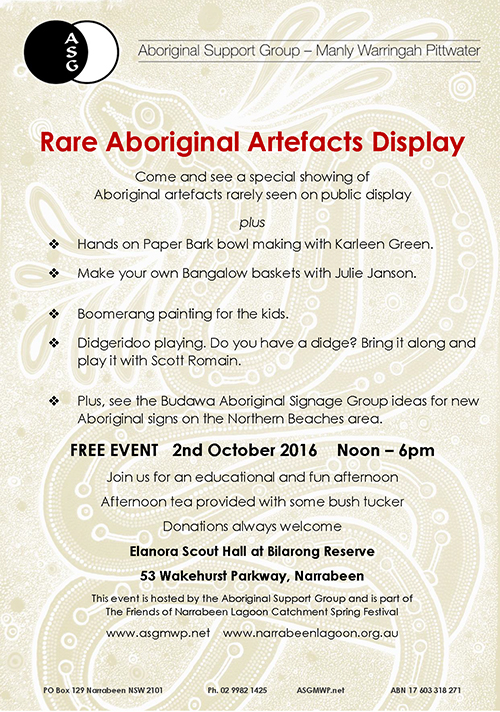 Rare Aboriginal Artefacts Display
